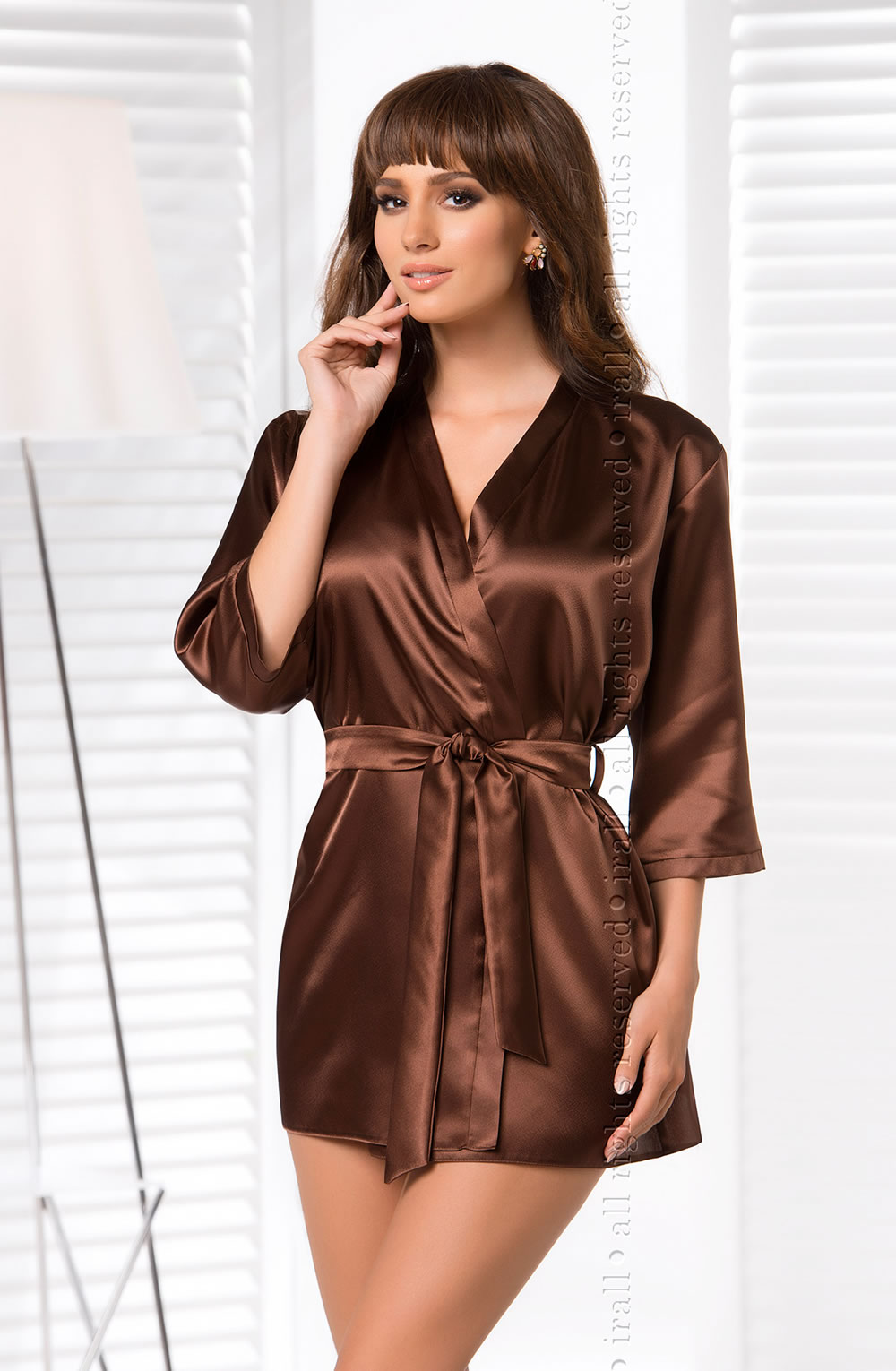 Irall Aria Chocolate Classic Dressing Gown - Nico Lingerie ba878d973